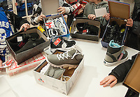 Laconia Boys and Girls Club receives  grant from Payless Shoes in Gilford.  (Karen Bobotas/for the Laconia Daily Sun)