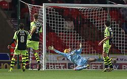 Yeovil Town's Chris Dunn is beaten for the second goal - Photo mandatory by-line: Matt Bunn/JMP - Tel: Mobile: 07966 386802 22/11/2013 - SPORT - Football - Doncaster - Keepmoat Stadium - Doncaster Rovers v Yeovil Town - Sky Bet Championship
