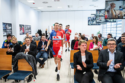 Jani Brajkovic during press conference of Continental Cycling team KK Adria Mobil before new season 2020, on February 17, 2020 in Cesca vas, Novo mesto, Slovenia. Photo by Vid Ponikvar / Sportida