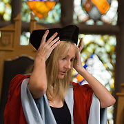JK Rowling, receiving the Honorary Degree of Doctor of Law (LLD) at the University of Aberdeen, Scotland, July 2006.<br />  JK Rowling jumps on the Twitter bandwagon<br /> The Harry Potter author signs up to stop people impersonating her, but will not tweet often as 'pen and paper' is her priority