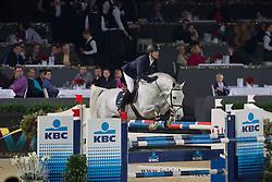 Bruynseels Niels (BEL) - Castelino vd Helle<br /> Studbook Zangersheide Price <br /> CSI-W Mechelen 2011<br /> © Dirk Caremans