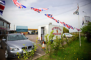 Put The Kettle On snack bar, situated in the parking area of a Shell petrol station and Kiss Kiss adult supermarket on the 28th April 2010 in Guyhirn in the United Kingdom.