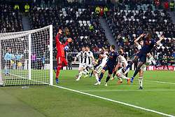 November 27, 2018 - Turin, Piedmont, Italy - Michy Batshuayi (Valencia CF) scores a goal subsequently canceled by the referee for a foul of hand during the UEFA Champions League match between Juventus FC and Valencia CF, at Allianz Stadium on November 27, 2018 in Turin, Italy. .Juventus won 1-0 over Valencia. (Credit Image: © Massimiliano Ferraro/NurPhoto via ZUMA Press)