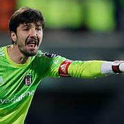 Besiktas's goalkeeper Tolga Zengin during their Turkish superleague soccer match Besiktas between Sivasspor at Osmanli Stadium in Istanbul Turkey on Sunday 19 October 2014. Photo by Kurtulus YILMAZ/TURKPIX