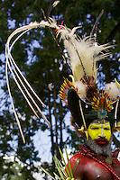 Huli Wigmen from Tari area, Southern Highlands Province..Goroka, Eastern Highlands Province, Papua New Guinea.