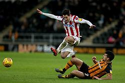 Stoke City's Bojan Krkic and Hull City's Eric Lichaj