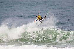 Yago Dora (BRA) surfing in Qualifying Round 1 Heat 3 of the WSL Redbull Airborne event in Hossegor, France.