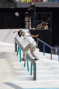 Aori Nishimura, Japan, during the women's final of the Street League Skateboarding World Tour Event at Queen Elizabeth Olympic Park on 26th May 2019 in London in the United Kingdom.