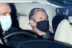 © Licensed to London News Pictures. 04/11/2020. London, UK. Labor Party leader Sir Keir Starmer arrives at The Houses of Parliament. Later today he will take part in PMQs.  Photo credit: George Cracknell Wright/LNP