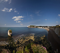 Coastal panorama, Isle of Wight