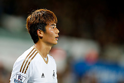 Ki Sung-Yueng of Swansea City looks on - Mandatory byline: Rogan Thomson/JMP - 07966 386802 - 25/08/2015 - FOOTBALL - Liberty Stadium - Swansea, Wales - Swansea City v York City - Capital One Cup Second Round.