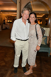 JOHN PAWSON and MURIEL SALEM at a the Fortnum's X Frank private view - an instore exhibition of over 60 works from Frank Cohen's collection at Fortnum & Mason, 181 Piccadilly, London on 12th September 2016.