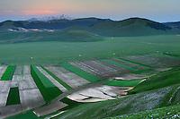 Fields of Castelluccio di Norcia, Piano Grande/Sibillini National Park, Italy; WWoE Mission