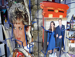 © under license to London News Pictures.  .William and Kate souvenirs ahead of the Royal Wedding in April 2011..Postcards of the Royal Couple and of Princess Diana..Photo credit should read Craig Shepheard / London News Pictures