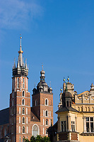 St Mary's Basilica in Stare Miasto Krakow Old Town Poland
