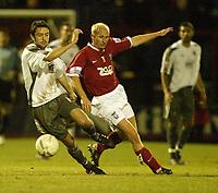 Photo: Aidan Ellis.<br /> York City v Bristol City. The FA Cup. 11/11/2006.<br /> Bristol's Cole Skuse (L) and York's Steve Bowey