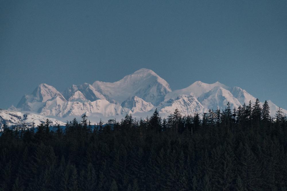 Mt Fairweather at dawn, Bartlett Cove, Alaska