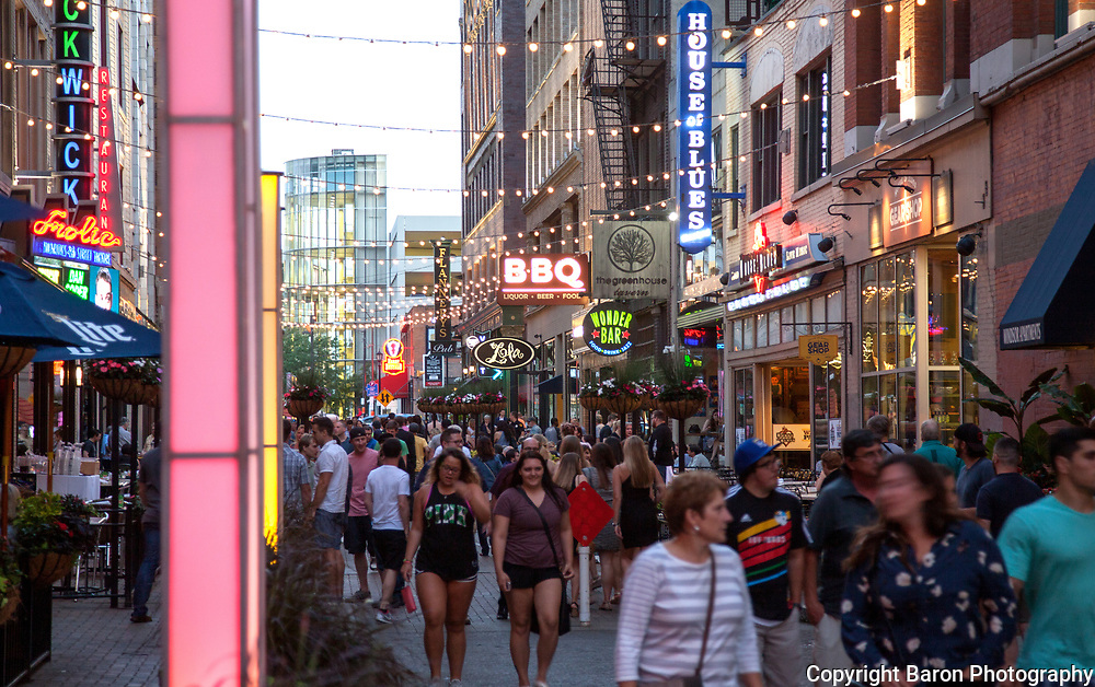 East 4th entertainment district in Cleveland Ohio,