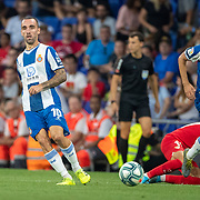 BARCELONA, SPAIN - August 18:  Sergi Darder #10 of Espanyol in action during the Espanyol V  Sevilla FC, La Liga regular season match at RCDE Stadium on August 18th 2019 in Barcelona, Spain. (Photo by Tim Clayton/Corbis via Getty Images)