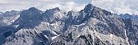 Mountain peaks of German Limestone Alps, Mittenwald, Germany