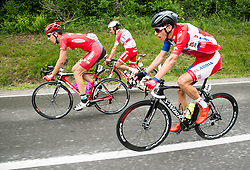 Jabuka David (Croatia) of Meridiana Kamen Team, Pellizotti Franco (Italy) of Androni Giocattoli - Sidermec and Per Gorazd (Slovenia) of Adria Mobil  during Stage 1 of 23rd Tour of Slovenia 2016 / Tour de Slovenie from Ljubljana to Koper/Capodistria (177,8 km) cycling race on June 16, 2016 in Slovenia. Photo by Vid Ponikvar / Sportida