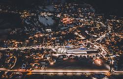 THEMENBILD - Blick auf das beleuchtete Engelberg, aufgenommen am 15. Dezember 2018 in Engelberg, Schweiz // View of the illuminated Engelberg, Engelberg, Switzerland on 2018/12/15. EXPA Pictures © 2018, PhotoCredit: EXPA/ JFK