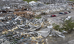 May 29, 2019, Linwood, Kansas, U.S.: Nursery business Free State Growers' greenhouses took a direct hit in Linwood Tuesday when a tornado roared through Linwood, Kansas. (Credit Image: © TNS via ZUMA Wire)