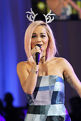 © Licensed to London News Pictures. 03/11/2014, UK. Rita Ora - Westfield London Christmas Lights switch-on, London UK, 03 November 2014. Photo credit : Richard Goldschmidt/Piqtured/LNP