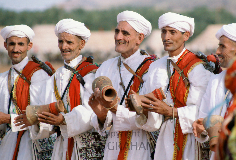 Musicians at traditional festival in Marrakesh, Morocco, North Africa