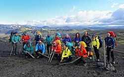08-07-2014 ISL: Iceland Diabetes Challenge dag 4, Alftavatn<br /> Vandaag ging de challenge van Hrafntinnusker naar Alftavatn / Team met deelnemers