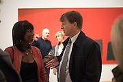 BEVERLEY HEATH; JEREMY HOYLAND, Opening of an exhibition of works by Anthony Caro, John Hoyland and Kenneth Noland. Pace, Burlington Gardens. London. 18 November 2015