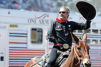 """John Payne, the """"One Arm Bandit,"""" takes a final bow on Sunday, the last day of the 2013 California Rodeo Salinas."""