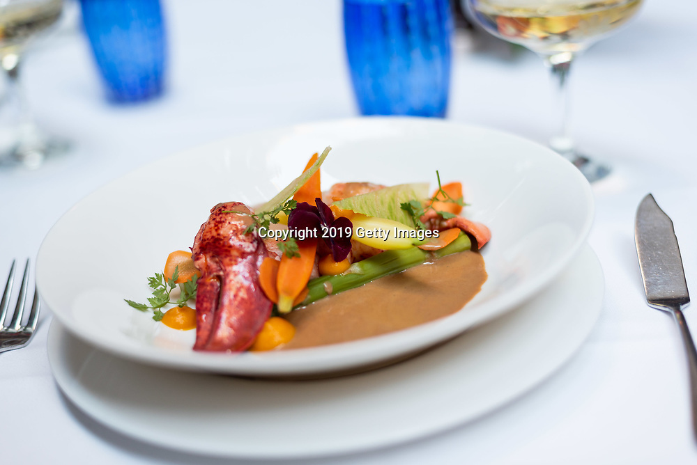 Homard au gingembre majorelle photographed at Majorelle in the Lowell Hotel in New York City on November 1st, 2019. (Photo by Kris Connor/Getty Images for OK! Magazine)