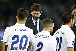 June 3, 2017 - Cardiff, Walles, United Kingdom - Juventus chairman Andrea Agnelli during the UEFA Champions League Final between Juventus and Real Madrid at National Stadium of Wales on June 3, 2017 in Cardiff, Wales. (Credit Image: © Matteo Ciambelli/NurPhoto via ZUMA Press)