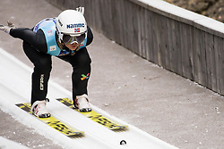 February 7, 2019 - Ljubno, Savinjska, Slovenia - Karoline Roestad of Norway competes on qualification day of the FIS Ski Jumping World Cup Ladies Ljubno on February 7, 2019 in Ljubno, Slovenia. (Credit Image: © Rok Rakun/Pacific Press via ZUMA Wire)