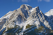 Canadian Rockies in winter. Mt. Kidd, Kananaskis Country, Alberta, Canada