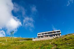 The Kamnik Saddle Lodge in Kamnik-Savinja Alps, on August 16, 2020 in Kamnik-Savinja Alps, Slovenia. Photo by Matic Klansek Velej / Sportida
