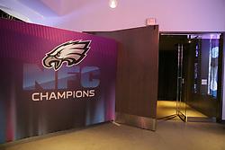 Super Bowl LII - Philadelphia Eagles Radio Row on February 1, 2018 in Minneapolis, Minnesota. (Photo by Hunter Martin/Philadelphia Eagles)