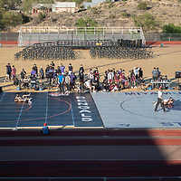 Miyamura High School hosts Wrestle on the Gridiron at Angelo DiPaolo Stadium in Gallup Wednesday evening.