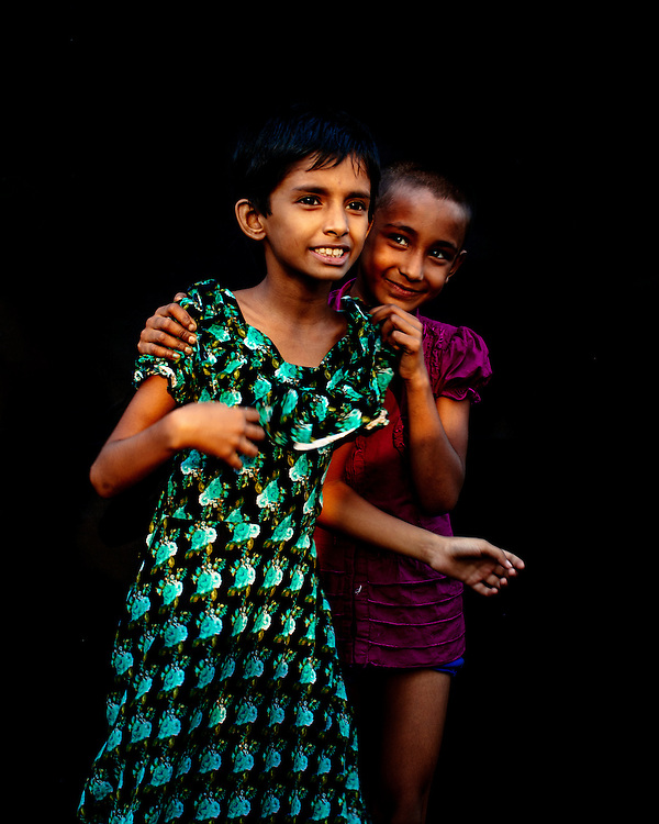 Colourful portrait of girls