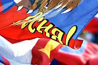 GEPA-1806085909 - INNSBRUCK,AUSTRIA,18.JUN.08 - FUSSBALL - UEFA Europameisterschaft, EURO 2008, Russland vs Schweden, RUS vs SWE. Bild zeigt Fahnen. Keyword: Flagge. <br />Foto: GEPA pictures/ Oskar Hoeher