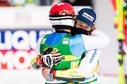 Mario Odermatt (SUI) with Meillard Loic of (SUI) during the Audi FIS Alpine Ski World Cup Men's Giant Slalom at 60th Vitranc Cup 2021 on March 13, 2021 in Podkoren, Kranjska Gora, Slovenia Photo by Grega Valancic / Sportida