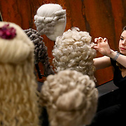 Wig and Make-up supervisor Judith Abegg adjusts wigs before a performance of the Barber of Seville at the English National Opera in London, Britain, 30 October 2017.  English National Opera (ENO) is an opera company based in London. It is one of the two principal opera companies in London. English National Opera traces its roots back to 1931 when Lilian Baylis established the Sadler's Wells Opera Company at the newly re-opened the Sadler's Wells Theatre. Baylis had been presenting opera concerts and theatre in London since 1898 and was passionate about providing audiences with the best theatre and opera at affordable prices. ENO became the first British opera company to tour the United States, and the first major foreign opera company to tour what was then the Soviet Union.EPA-EFE/NEIL HALL