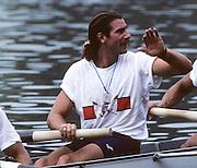 Lucerne, SWITZERLAND. USA M4-. 1992 FISA World Cup Regatta, Lucerne. Lake Rotsee.  [Mandatory Credit: Peter Spurrier: Intersport Images] 1992 Lucerne International Regatta and World Cup, Switzerland