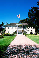 California: Monterey Region.  Historic Colton Hall..Photo #: camon3105..Photo copyright Lee Foster, 510/549-2202, lee@fostertravel.com, www.fostertravel.com