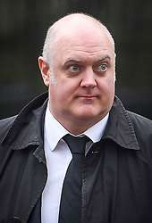 © Licensed to London News Pictures. 31/03/2018. Cambridge, UK. Comedian DARA O'BRIAIN, arrives for The funeral of Stephen Hawking at Church of St Mary the Great in Cambridge, Cambridgeshire. Professor Hawking, who was famous for ground-breaking work on singularities and black hole mechanics, suffered from motor neurone disease from the age of 21. He died at his Cambridge home in the morning of 14 March 2018, at the age of 76. Photo credit: Ben Cawthra/LNP