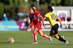 Hayley Ladd midfielder for Bristol City Women takes on Phoebe Read of Watford Ladies - Mandatory by-line: Robbie Stephenson/JMP - 10/09/2016 - FOOTBALL - Stoke Gifford Stadium - Bristol, England - Bristol City Women v Watford Ladies - FA Women's Super League 2