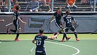 AMSTELVEEN -  Duitsland scoort,  EK hockey, finale Nederland-Duitsland 2-2. mannen.  Nederland wint de shoot outs en is Europees Kampioen.  COPYRIGHT KOEN SUYK