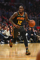 January 28, 2019 - Los Angeles, CA, U.S. - LOS ANGELES, CA - JANUARY 28: Atlanta Hawks Forward Taurean Prince (12) dribbles up the court during a NBA game between the Atlanta Hawks and the Los Angeles Clippers on January 28, 2019 at STAPLES Center in Los Angeles, CA. (Photo by Brian Rothmuller/Icon Sportswire) (Credit Image: © Brian Rothmuller/Icon SMI via ZUMA Press)