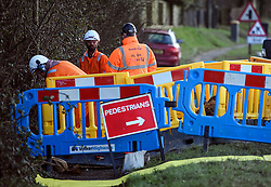 © Licensed to London News Pictures. 11/02/2020. Chalfont St Giles, UK. Work begins in Chalfont St Giles in Bucks, for the planned HS2 (High Speed 2) railway, which government plans to push ahead with. Photo credit: Ben Cawthra/LNP
